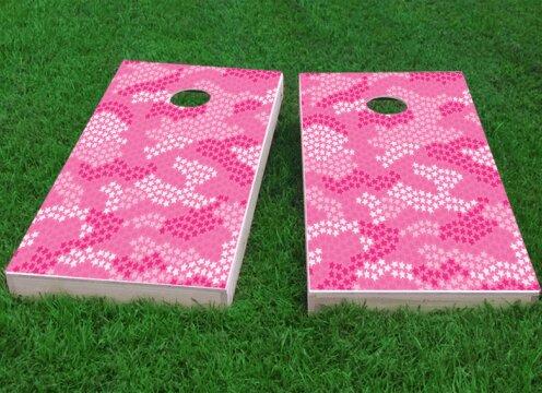 Pink Stars Camo Cornhole Game (Set of 2) by Custom Cornhole Boards