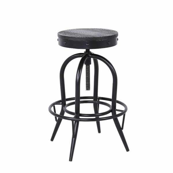Macon Swivel Solid Wood Adjustable Height Bar Stool by Williston Forge Williston Forge