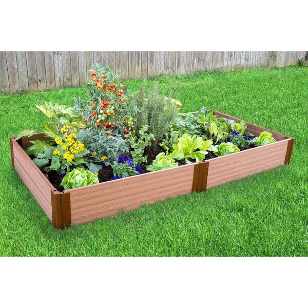 Classic Sienna 4 ft x 8 ft Composite Raised Garden by Frame It All