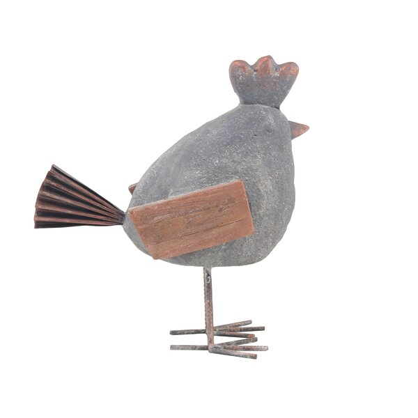 Osterley Distressed Rooster Resin Figurine by Gracie Oaks