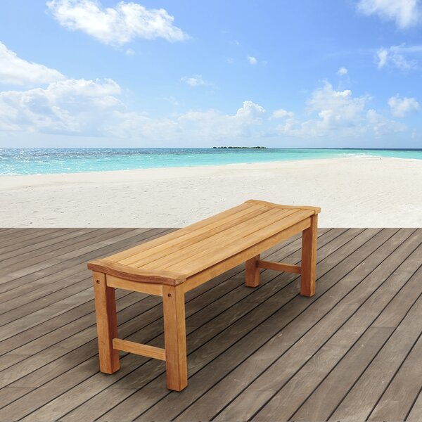Tina Rinjani Teak Picnic Bench by Rosecliff Heights
