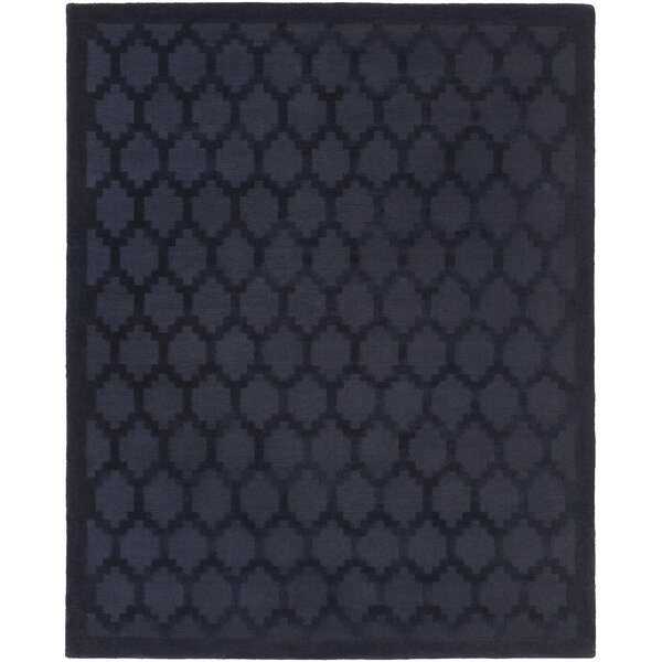Bracey Hand-Loomed Navy Area Rug by Wrought Studio