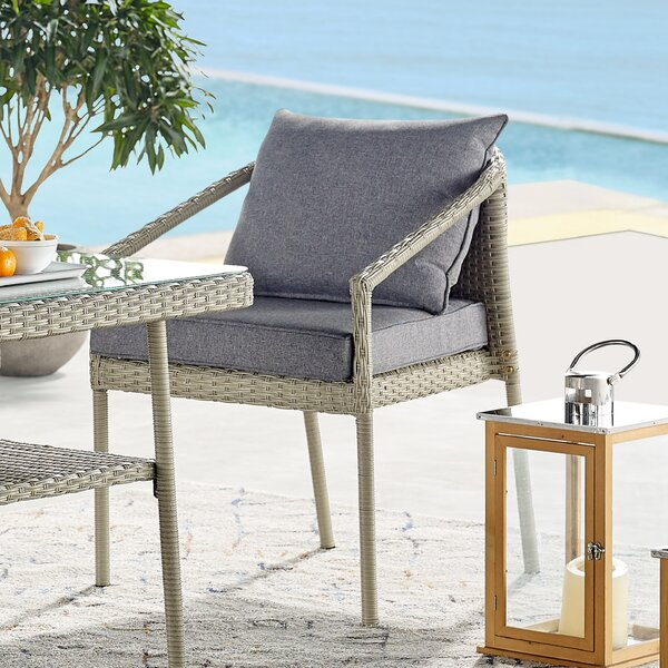 Pancoast Patio Chair with Cushions (Set of 2) by Highland Dunes