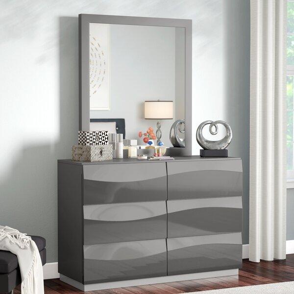 Moumoune 6 Drawer Dresser with Mirror by Orren Ellis