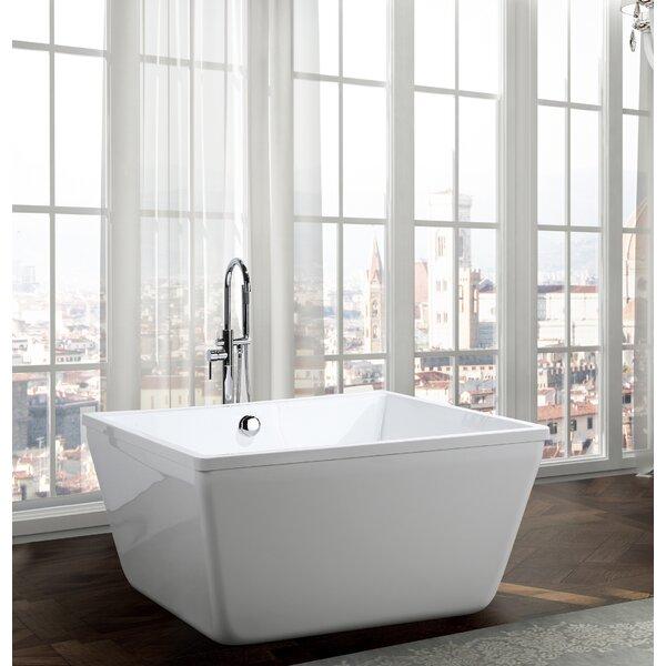 Bologna 47.2 x 47.2 Freestanding Soaking Bathtub by Bellaterra Home