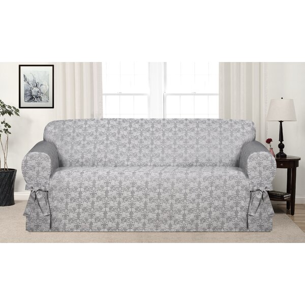 Box Cushion Sofa Slipcover By Astoria Grand Astoria Grand