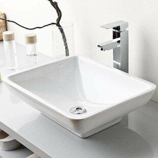 Online Reviews Top Ceramic Rectangular Vessel Bathroom Sink ByWS Bath Collections