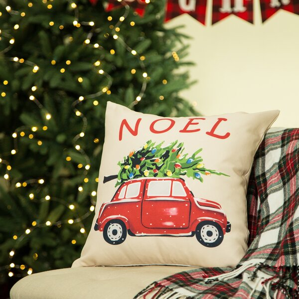 Noel Car Pillow Cover by Glitzhome
