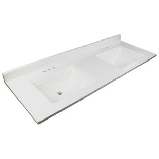Best Price Camila 61 Double Bathroom Vanity Top By Transolid
