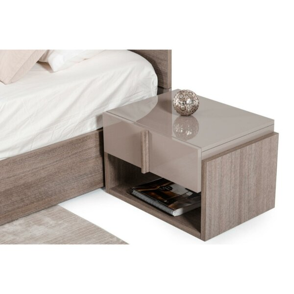 Daughtrey One Shelf 1 Drawer Nightstand by Orren Ellis
