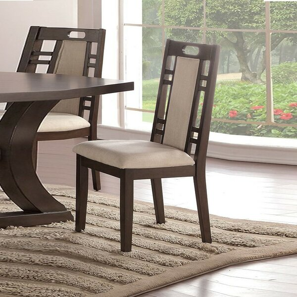 Whittenburg Upholstered SIde Chair In Beige (Set Of 2) By Millwood Pines