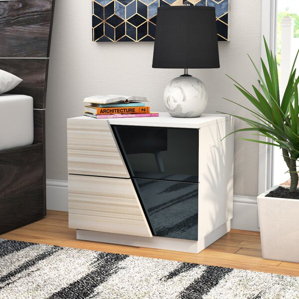Nikhat 2 Drawer Nightstand by Orren Ellis