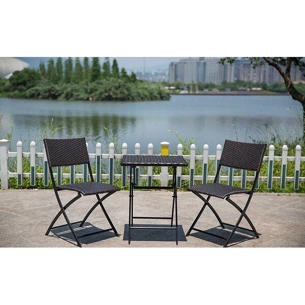 Fontaine Bistro 3 Piece Dining Set by Ebern Designs