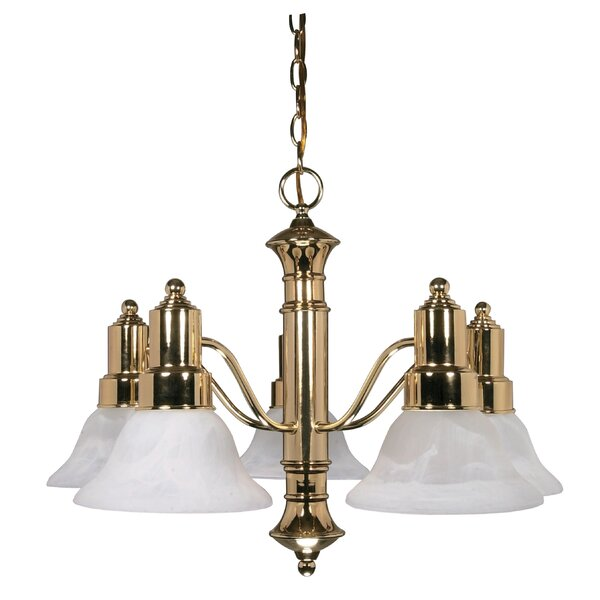 Mayhugh 5 - Light Shaded Classic / Traditional Chandelier By Alcott Hill