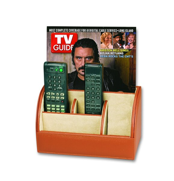 Men's Leather Goods Multimedia Remote Control Holder By Budd Leather