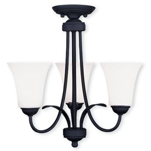 Black chandeliers youll love wayfair grady 3 light shaded chandelier aloadofball Gallery