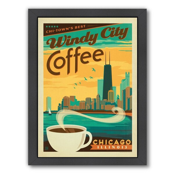 Coffee Chicago Coffee Framed Vintage Advertisement by East Urban Home