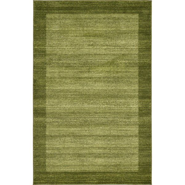 Napoli Green Area Rug by Red Barrel Studio