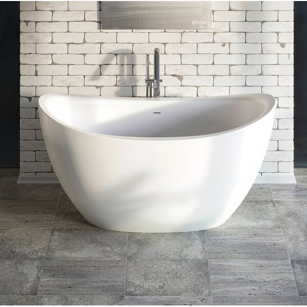 Purescape 171 63 x 39 Freestanding Soaking Bathtub by Aquatica