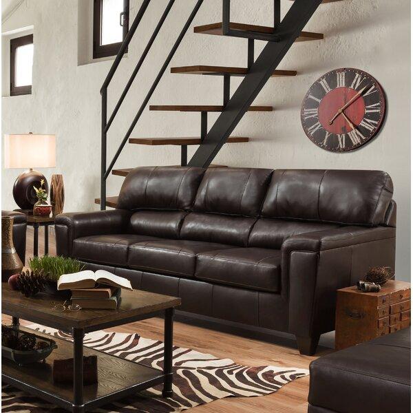 Kunzler Leather Sleeper by Red Barrel Studio