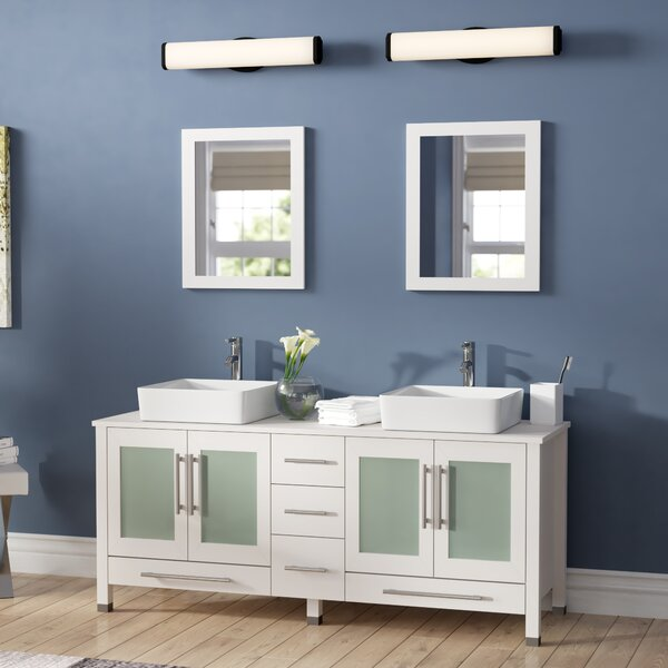 Bosarge 61 Double Bathroom Vanity Set with Mirror by Mercury Row