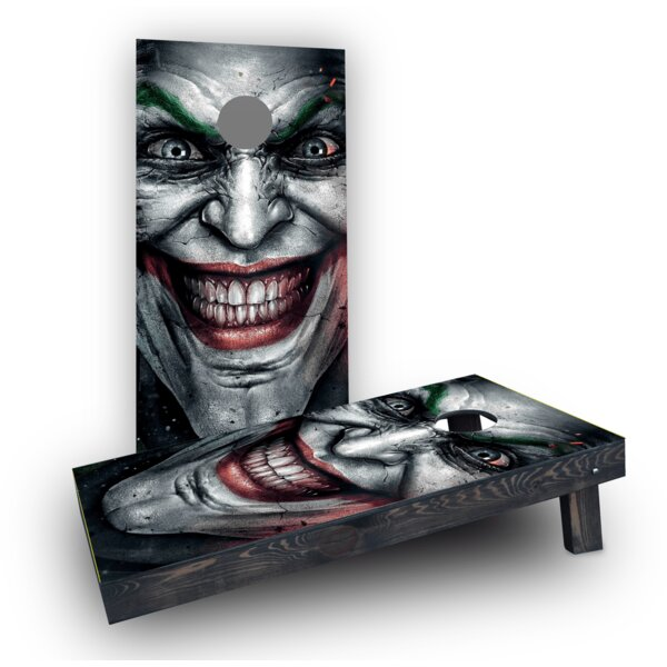 The Joker Cornhole Boards (Set of 2) by Custom Cornhole Boards