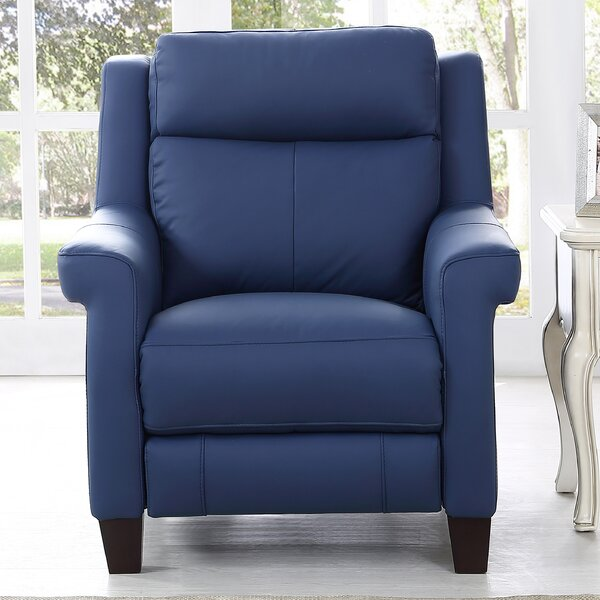 Dolce Leather Power Wall Hugger Recliner by HYDELINE