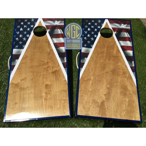 American Flag Half Triangle 10 Piece Cornhole Set by West Georgia Cornhole