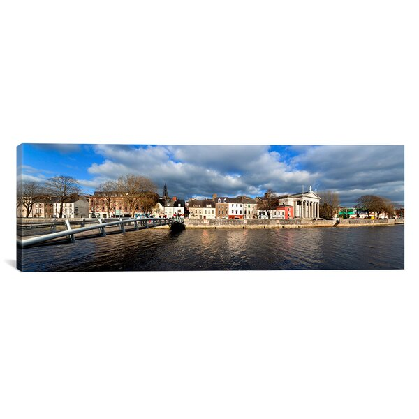 Panoramic The Millenium Foot Bridge over the River Lee, Cork City, Ireland Photographic Print on Wrapped Canvas by iCanvas