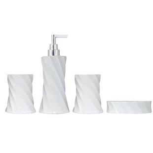 Savings 4 Piece Flora Series Bathroom Accessories Set ByModona