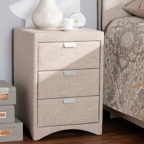 Sinead 3 Drawer Nightstand by Ebern Designs