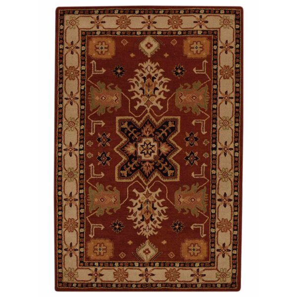 One-of-a-Kind Rocky Kazak Oriental Hand-Tufted Wool Red Area Rug by Astoria Grand
