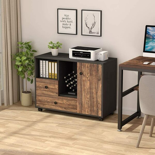 Comeaux Mobile Vertical Filing Cabinet