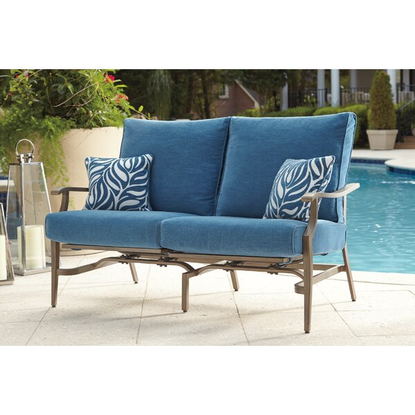 Goufes Patio Loveseat with Cushions (Set of 2) by Bay Isle Home