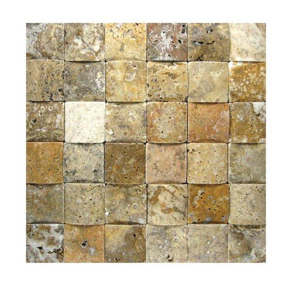 3D Honed 2 x 2 Natural Stone Mosaic Tile