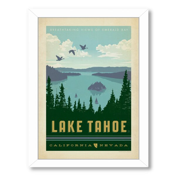 National Park Lake Tahoe Framed Vintage Advertisement by East Urban Home