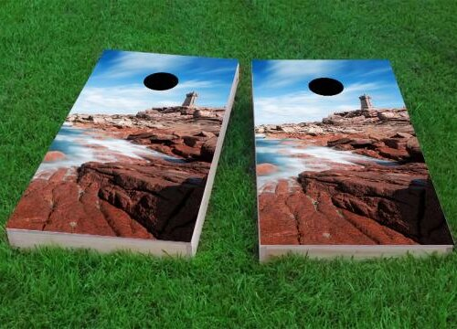 Lighthouse by the Sea Cornhole Game (Set of 2) by Custom Cornhole Boards