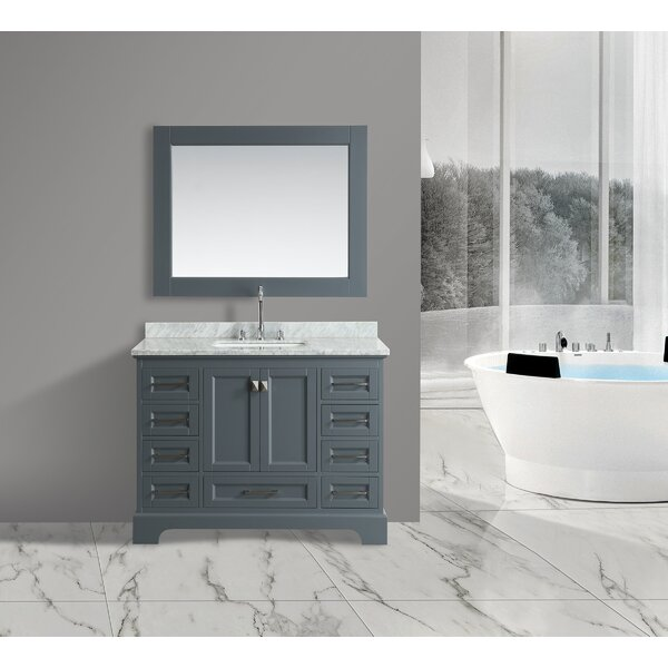 Saugatuck 48 Single Bathroom Vanity Set with Mirror by Orren Ellis