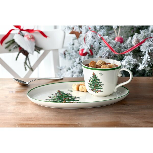 Christmas Tree Serve Soup and Sandwich Set by Spode