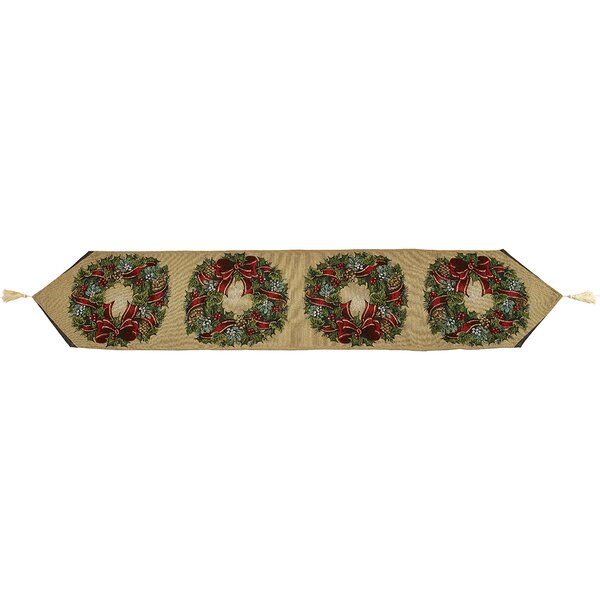 Traditional Wreath Polyester Table Runner by Precious Moments