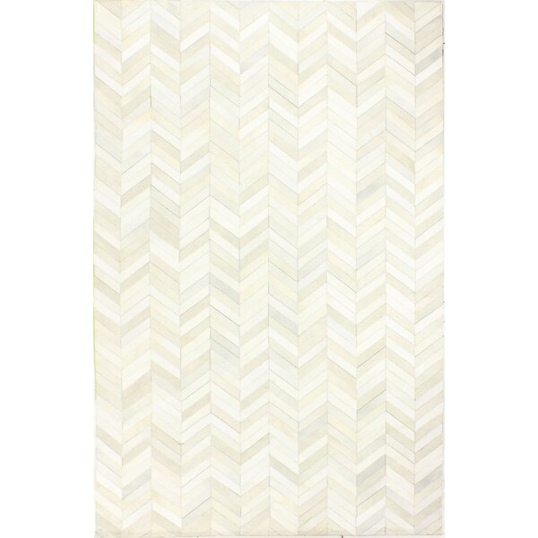 Wright Cow Hide White Area Rug by Trent Austin Design