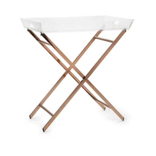 Kallie Acrylic Tray Table by Everly Quinn
