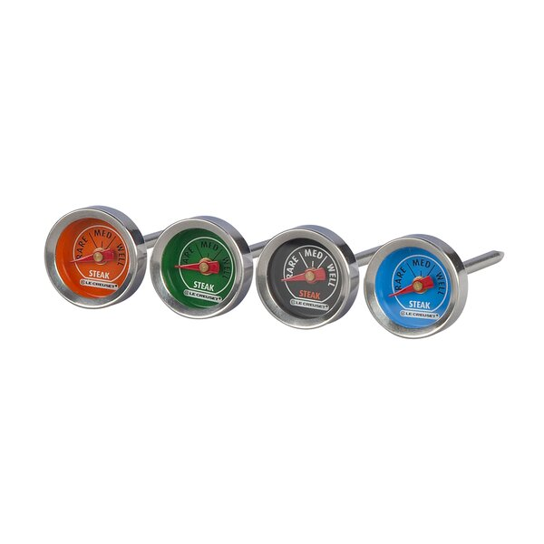 Dial Meat Steak Thermometer (Set of 4) by Le Creuset