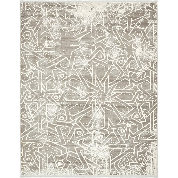 Sherrill Traditional Gray Area Rug by Bungalow Rose