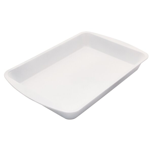 Cerama Bake Nonstick Rectangular Roaster Pan by Range Kleen