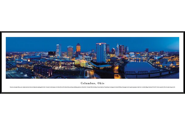 US Skyline Columbus, Oh by James Blakeway Framed Photographic Print by Blakeway Worldwide Panoramas, Inc