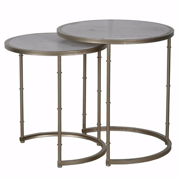 Bernadette 2 Piece Nesting Tables by Bungalow Rose