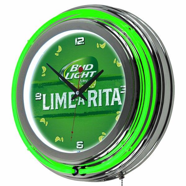 Bud Light Lime-A-Rita Neon 14.5 Wall Clock by Trademark Global