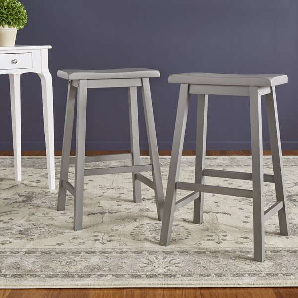 Sharman 29 Saddle Bar Stool (Set of 2) by Three Posts