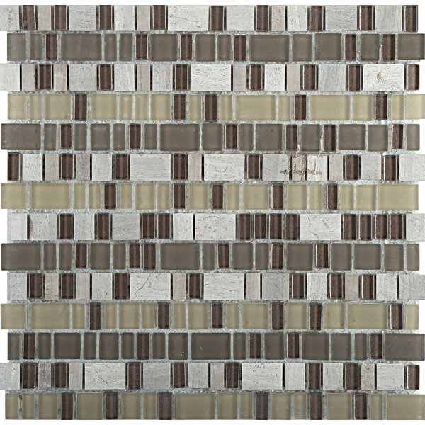 Unique Random Sized Mixed Material Mosaic Tile in Lyric by Emser Tile